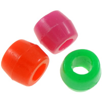 Plastic Beads Drum solid color mixed colors 8x6.5mm Hole:Approx 3.5mm Approx 3570PCs/Bag