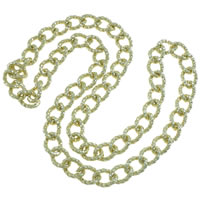 Iron Necklace Chain, gold color plated, twist oval chain, nickel, lead & cadmium free, 18x4mm, Length:Approx 23.5 Inch, 20Strands/Bag, Sold By Bag