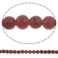 Fashion Glass Beads, Round, drawbench, solid color, more colors for choice, 8mm, Hole:Approx 1.5mm, Length:Approx 32 Inch, 10Strands/Bag, Sold By Bag