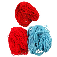 Velveteen Cord, mixed colors, 3.5mm, Length:Approx 200 m, 2Bags/Lot, Sold By Lot