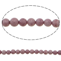 Natural Jade Beads Round pink 6mm Hole:Approx 1mm Length:Approx 15.7 Inch 10Strands/Bag