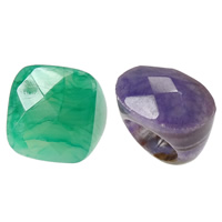Australia Jade Finger Ring natural faceted mixed colors 25-34mm Hole:Approx 2mm US Ring Size:8 5PCs/Lot
