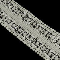 Koronki wstążką, Bawełna, biały, gatunek, 105mm, 30m/wiele, sprzedane przez wiele