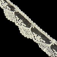 Koronki wstążką, Bawełna, biały, 30mm, 15m/wiele, sprzedane przez wiele