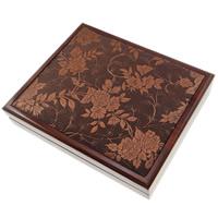 Drewniane pudełko na naszyjnik, Drewno, ze Sukno & Welwet, Prostokąt, 180x200x48mm, sprzedane przez PC