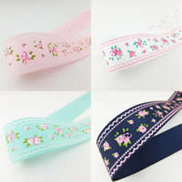 Grosgrain Ribbon, printing, more colors for choice, 25mm, 2PCs/Lot, 50/PC, Sold By Lot