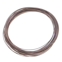 Aluminum Wire, electrophoresis, coffee color, 1mm, Length:Approx 100 m, 10PCs/Bag, Sold By Bag