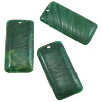 South African Jade Pendant, Rectangle, natural, 30x62x7mm, Hole:Approx 3.5mm, 10PCs/Lot, Sold By Lot