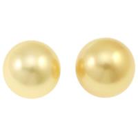 Akoya культивированный жемчуг, Акойя культивированные жем, Круглая, натуральный, нет отверстия, золотой, 14-15mm, продается PC