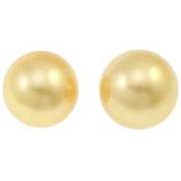 Akoya Cultured Pearl Beads, Akoya Cultured Pearls, Round, natural, no hole, gold, 10-11mm, Sold By PC