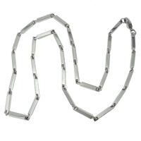 Stainless Steel Chain Necklace, 316L Stainless Steel, different size for choice & bar chain, original color, Length:Approx 21 Inch, Sold By Lot
