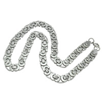 Stainless Steel Chain Necklace, 316L Stainless Steel, different size for choice & mariner chain, original color, Length:Approx 21 Inch, 5Strands/Lot, Sold By Lot