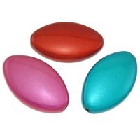 Cudowne akrylowe koraliki, Akryl, Owal, dostępnych więcej kolorów, 23x14x5.50mm, otwór:około 1mm, około 385komputery/torba, sprzedane przez torba