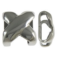 316 Stainless Steel Slide Charm, Letter X, original color, 15x17x9mm, Hole:Approx 14x6mm, 50PCs/Lot, Sold By Lot