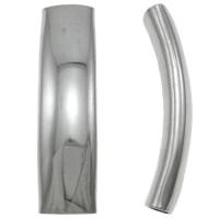 Roestvrijstaal Buis Kralen, Roestvrij staal, oorspronkelijke kleur, 36x9.50x8mm, Gat:Ca 4x8mm, 50pC's/Bag, Verkocht door Bag