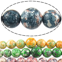 Gemstone Beads, Round, natural, graduated beads, more colors for choice, 7-14mm, Hole:Approx 1-2mm, Length:Approx 18 Inch, 20Strands/Lot, Approx 61PCs/Strand, Sold By Lot