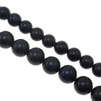 Blue Goldstone Beads, Round, different size for choice, Hole:Approx 1mm, Sold Per 15-15.4 Inch Strand