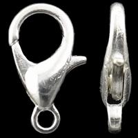 Zapięcie karabińczyk ze stopu cynku, Stop cynku, Platerowane w kolorze srebra, bez zawartości niklu, ołowiu i kadmu, 6.50x12x2.50mm, otwór:około 1mm, 1000komputery/torba, sprzedane przez torba