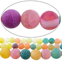 Natural Effloresce Agate Beads Round mixed colors Approx 1-1.5mm Sold Per Approx 15 Inch Strand