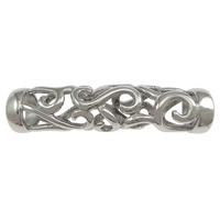 Stainless Steel Curved Tube Beads, hollow, original color, 42x9x9.50mm, Hole:Approx 6.5mm, 50PCs/Lot, Sold By Lot
