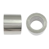 Stainless Steel Jewelry Beads, Column, original color, 8x10mm, Hole:Approx 6.5mm, 100PCs/Lot, Sold By Lot