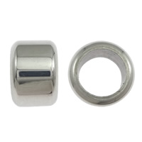 Stainless Steel Jewelry Beads, Column, original color, 6.50x9.50mm, Hole:Approx 6.5mm, 100PCs/Lot, Sold By Lot