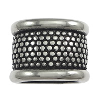 Stainless Steel Jewelry Beads, Column, blacken, 16.50x12x12mm, Hole:Approx 12x8mm, 50PCs/Lot, Sold By Lot