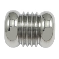 Stainless Steel Jewelry Beads, Column, original color, 13x10.50mm, Hole:Approx 6.5mm, 100PCs/Lot, Sold By Lot