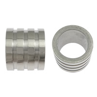 Stainless Steel Jewelry Beads, Column, original color, 10x12mm, Hole:Approx 6.5mm, 100PCs/Lot, Sold By Lot