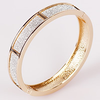 Zinc Alloy Bangle, Donut, plated, stardust, more colors for choice, nickel, lead & cadmium free, 70mm, Length:Approx 8 Inch, 12PCs/Bag, Sold By Bag