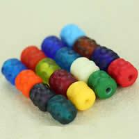 Matowe koraliki, Lampwork, Bęben, Ręcznie robione, różnej wielkości do wyboru & oszroniony, mieszane kolory, otwór:około 2mm, 30komputery/torba, sprzedane przez torba