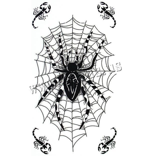 Spider tattoo stencil