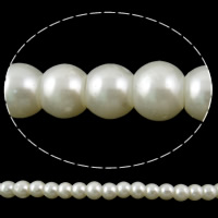 Glass Pearl Beads, Round, more colors for choice, 6mm, Hole:Approx 1mm, Length:Approx 32 Inch, 10Strand/Bag, 168PCs/Strand, Sold By Bag