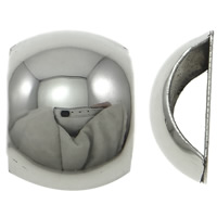 Stainless Steel Slide Charm, original color, 17x23x10mm, Hole:Approx 6x15mm, 20PCs/Bag, Sold By Bag