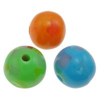 Koraliki z żywicy, żywica, Koło, mieszane kolory, 12mm, otwór:około 2mm, 1000komputery/torba, sprzedane przez torba