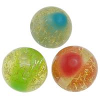 Koraliki z żywicy, żywica, Koło, kolorowy proszek, mieszane kolory, 20mm, otwór:około 2.5mm, 200komputery/torba, sprzedane przez torba