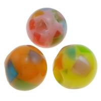 Koraliki z żywicy, żywica, Koło, mieszane kolory, 11mm, otwór:około 1.5mm, 1000komputery/torba, sprzedane przez torba
