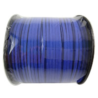 Velveteen Cord, with plastic spool, hyacinthine, 3x1.5mm, 100Yard/Spool, Sold By Spool