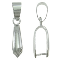Brass Pinch Bail, platinum color plated, different size for choice, nickel, lead & cadmium free, 100PCs/Bag, Sold By Bag