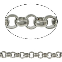 Stainless Steel Rolo Chain, 316 Stainless Steel, handmade, original color, 7mm, 10m/Lot, Sold By Lot