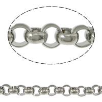 Łańcuch ze stali nierdzewnej Rolo, Stal nierdzewna 316, Ręcznie robione, Rolo łańcucha, oryginalny kolor, 7mm, 10m/wiele, sprzedane przez wiele