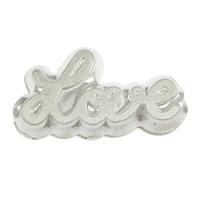 Srebrne koraliki 925, Srebro 925, słowo miłość, 18.50x11x4.50mm, otwór:około 2.5mm, 10komputery/wiele, sprzedane przez wiele