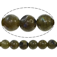 Natural Labradorite Beads, Round, 10mm, Hole:Approx 1mm, Length:Approx 15 Inch, 10Strands/Lot, Approx 37PCs/Strand, Sold By Lot