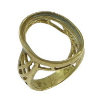 Brass Bezel Ring Base, hollow, original color, nickel, lead & cadmium free, 21.50mm, Hole:Approx 4x2mm, Inner Diameter:Approx 15x20mm, Size:8, 50PCs/Lot, Sold By Lot