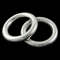 Copper Coated Plastic Linking Ring Donut silver color plated lead   cadmium free 38x6mm Hole:Approx 25mm 100PCs/Bag