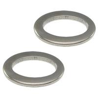 Roestvrij staal ring connectors, Plat Ovaal, oorspronkelijke kleur, 15x10x1.50mm, Gat:Ca 10x5mm, 500pC's/Lot, Verkocht door Lot