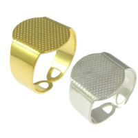 Brass Pad Ring Base, plated, more colors for choice, lead & cadmium free, 15mm, Hole:Approx 4x10mm, Size:7, 200PCs/Lot, Sold By Lot