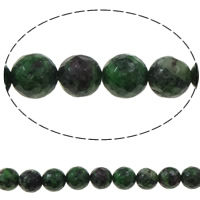Ruby in Zoisite Beads, Round, faceted, 8mm, Hole:Approx 1.5mm, Length:Approx 15 Inch, 10Strands/Bag, Approx 48PCs/Strand, Sold By Bag