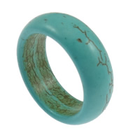 кольца из бирюзы, Синтетическая бирюза, голубой, 8mm, размер:11, 100ПК/Лот, продается Лот