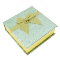 Kartonowe pudełko na bransoletkę, Tektura, ze Welwet, Kwadrat, złoto, 90x95x34mm, sprzedane przez PC